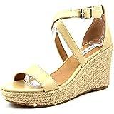 Steve Madden Womens Montaukk Espardille Jute Wedge Sandal Shoe