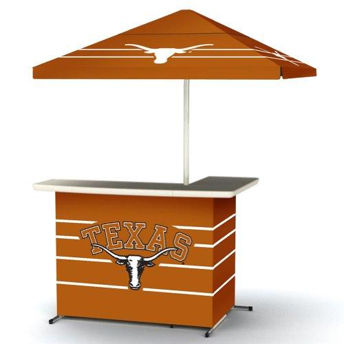 Ncaa Texas Longhorns Wheel Portable Bag Travel L-Shape Umbrella Basic Bar Orange