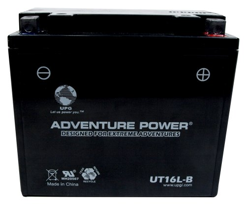 UPG UT16L-B  Adventure Power Power Sport AGM Series Sealed AGM Battery