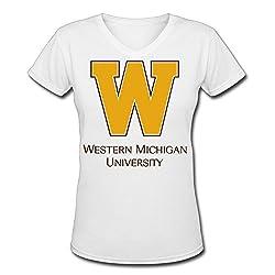 Central Michigan University Logo Adult Unique V-neck Short Sleeve Tee