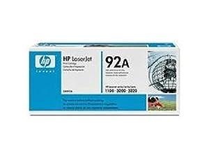 C4092A HP Toner Cartridge 92A Schwarz HP 92A ca. 2.500 Seiten, für Laserjet 1100 / 1100A / 3200 Serie.