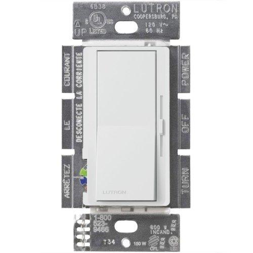 Lutron Dvcl-153Pr-Wh Diva 120V Single Or 3-Way Location Cfl/Led Digital Dimmer