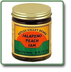 Jalapeno Peach Jam - 11 Oz Glass Jar from Naples Valley