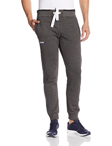 Superdry Uomo Orange Label con punta Joggers, Nero, Medium