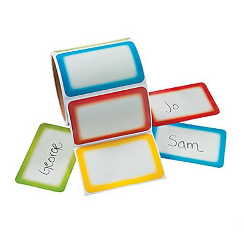 Fun Express Colorful Name Tag Labels 100 Stickers Office