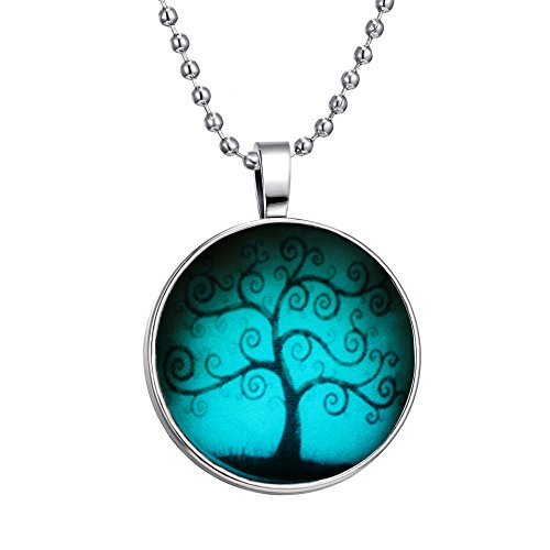 Is-Steampunk-Style-Halloween-Magic-Fairy-Hope-Love-Tree-of-Life-Flashing-Silver-Tone-Necklace
