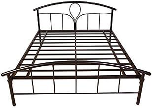 HomeTown Elegant Metal Queen Bed (Matt Finish, Black)
