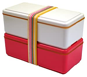 Gel-Cool Earth 2-tier Japanese Bento Box Love (Pink)
