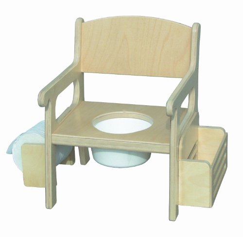 Unfinished Potty Chair w/ Accessories