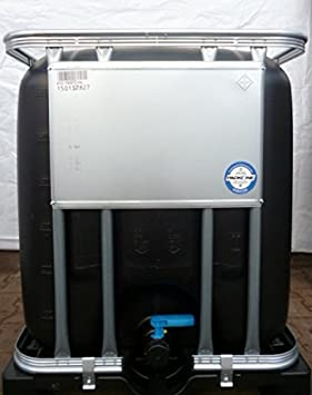 ibc wassertank tank regentonne 600 liter neu schwarz schwarzf rbung lebensmittelecht dc510. Black Bedroom Furniture Sets. Home Design Ideas