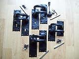 Ironmongery World Black Antique Cast Iron Old English Style Lever Latch Lock Bathroom Handles In 4 Options - 2.5