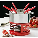 NEW FONDUE STAINLESS STEEL SET & 6 FORKSby PREMEIR