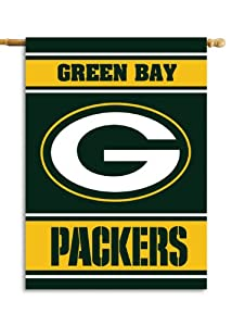 NFL Green Bay Packers 2-Sided 28-by-40-Inch House Banner by Fremont Die