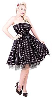 H&R London Kayla Mini Polka Dot Swing Dress
