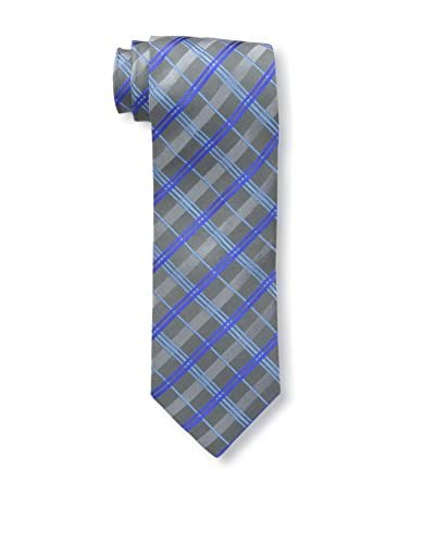 Geoffrey Beene Men's Charcoal 8 Plaid Tie