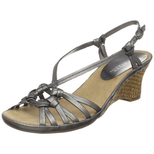 Aerosoles Women's Frozen Yogurt Sandal,Silver,8 M US
