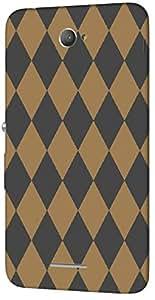 Timpax protective Armor Hard Bumper Back Case Cover. Multicolor printed on 3 Dimensional case with latest & finest graphic design art. Compatible with Sony Xperia E4 Design No : TDZ-22147