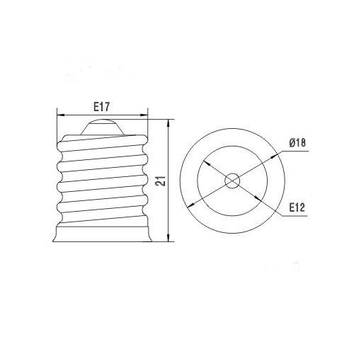 toplimit 4 pack intermediate base e17 to e12 candelabra. Black Bedroom Furniture Sets. Home Design Ideas