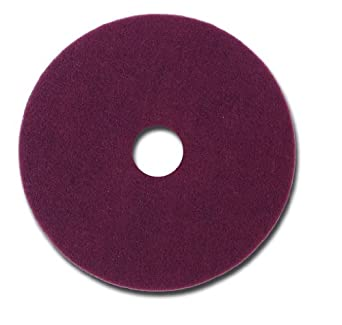 "Glit 11512 TN Polyester Blend Maroon Wood Surfacing Pad, Synthetic Blend Resin, Aluminum Oxide Grit, 12"" Diameter, 175 to 350 rpm (Case of 10)"