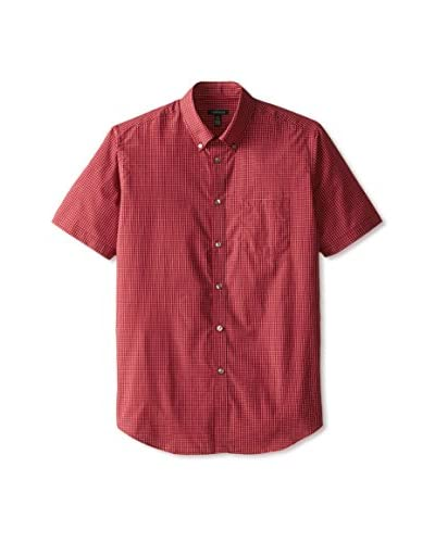 Van Heusen Men's Short Sleeve Mini Grid Non-Iron Shirt