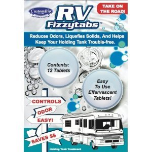 Natural Air Man RV Fizzytabs Reduces Odors, Liquefies Solids, and Helps Keep Your Holding Tank Trouble-Free! (Rv Black Tank Tablets compare prices)