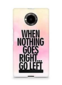 AMEZ when nothing goes right go left Back Cover For YU Yupheria