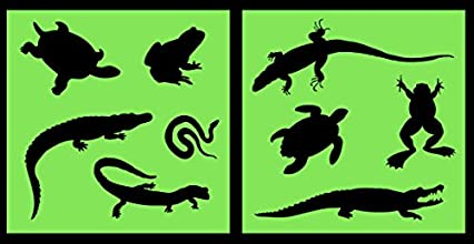 Auto Vynamics - STENCIL-REPTILESET01-10 - Detailed Lizards amp Reptiles Stencil Set - Featuring Snak