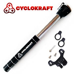 Buy Cyclokraft Mini Bike Pump - Portable & Lightweight - Dual Action Air Inflation - High Pressure - 60 Day Moneyback... by Cyclokraft Pumps - We know bicycles best