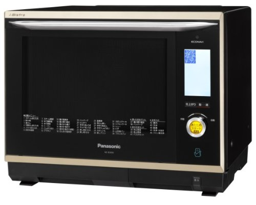 Panasonic スマート×ビストロ×エコナビ スチームオーブンレンジ 30L シャンパンブラック NE-BS900-NK