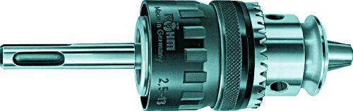 Röhm 600581 Type 129-00 HBF 13 Carbide Insert Key-Type Hammer Drill Chuck with SDS-Plus Adapter Take-Up, 42.9mm Diameter, 2.5 - 13mm Clamping Capacity