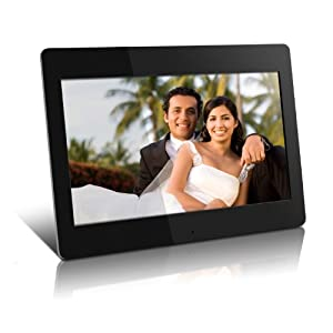 Aluratek ADMPF114F 14 inch High Resolution Digital Photo Frame with 512MB Built-in Memory and Remote (1366 x 768) ADMPF114F