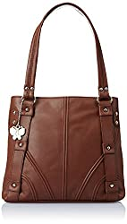Butterflies Handbag (Brown) (BNS 0133 BN)