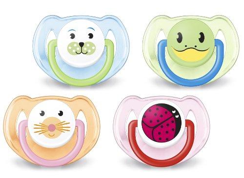 Philips Avent SCF182/24 Succhietti Animaletto - con Tettarelle ortodontiche, senza BPA (6-18m) - 2 pezzi