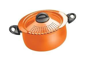 Bialetti 7258 Trends Collection 5 Quart Pasta Pot, Orange