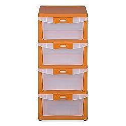 Nilkamal Series-24 Chest of Drawers (Orange)