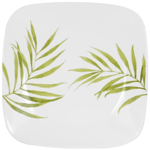 Corelle Bamboo Leaf Square Round 10-1/4-Inch Dinner Plate