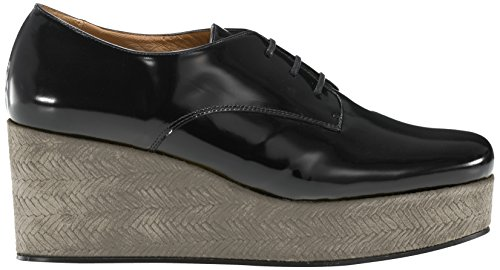 Castañer - FLEURE / box leather woven suede, Scarpa Stringata da Donna, Multicolore(Sand / Black), 41