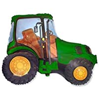 """1 Farm Tractor Green Foil Balloon 31"""" from Xtraco"""