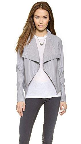 BB Dakota Women's Lillian Drapey Front Jacket, Wild Dove, Small