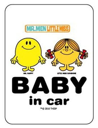 ミスターメン&リトルミス《TWO》BABY in carステッカー☆キャラクターグッズ(カー用品)通販☆