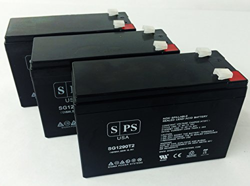Sps Brand Ge Digital Energy It Series Ups1500Itsit Ups1500Itsir 12V 9Ah Replacement Battery ( 3 Pack)