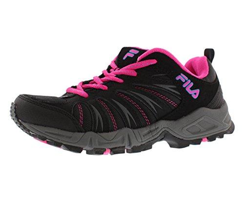 Fila Women's Trailbuster 2-W Trail Runner, Black/Atomic Blue/Pink Glow, 7 M US