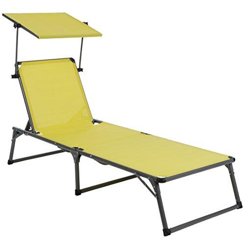 Ultranatura-Aluminium-Sonnenliege-Nizza-mit-Dach-gelb-193-x-67-x-32-cm