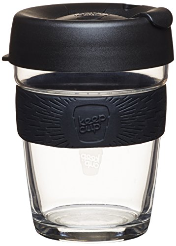 Keepcup 12-Ounce Brew Glass Reusable Coffee Cup, Medium, Metal