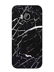 Stone Dark Marble - Designer Printed Hard Back Shell Case Cover for HTC M8 Superior Matte Finish HTC M8 Cover Case