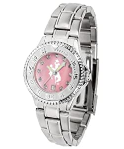 Wyoming Cowboys Ladies Watch Mother-of-Pearl Face by SunTime