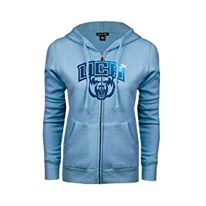 Central Arkansas Ladies Light Blue Fleece Full Zip Hoodie
