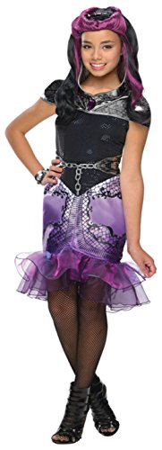 Girls Eah Raven Queen Kids Child Fancy Dress Party Halloween Costume