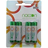 Naccon AA Rechargeable Battery 2700 Mah - Pack Of 4 - 1 Year Replacement Guarantee