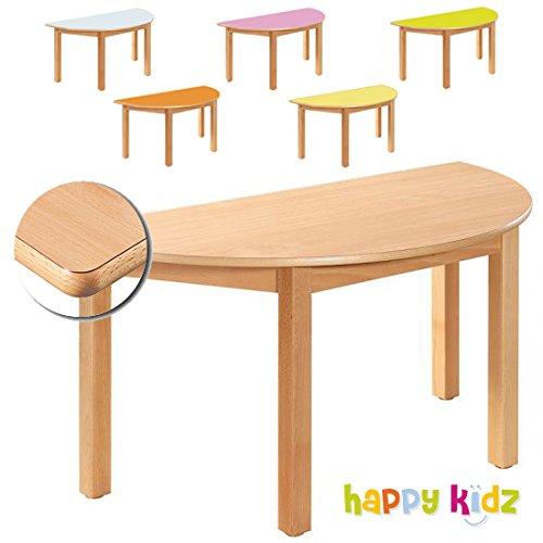"""""""KIDZ PREMIUM"""" Formica Tisch 120 x 60 cm (halbmond) buche 40 cm günstig kaufen"""